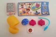 NEW Kinder Surprise Egg Go Move Dragon Fighters SD037 Purple Spin Toy