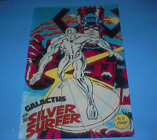MARVEL COMICS GALACTUS AND THE SILVER SURFER PIN UP POSTER JACK KIRBY
