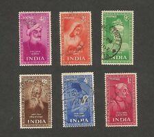 India 1952 Saints & Poets 6v used