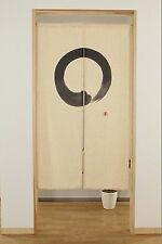 """Japanese Noren Doorway Curtain en Circle White   34""""x59"""" New Japan"""