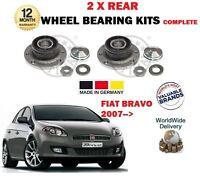 Para Fiat ¡Bravo + Furgoneta 2007> Nuevo 2X Trasero Conjunto de Rodamientos Con