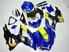 Yellow Black Blue ABS Injection Fairing Kit Fit for GSXR600/750 2008 2009 2010
