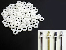 100 NEW White THICK NYLON DRUM TENSION ROD WASHERS For Tom/Bass/Snare, FREE SHIP