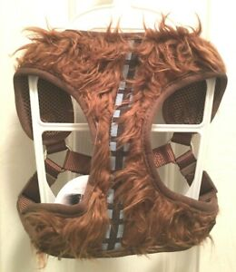 Star Wars Chewbacca Dog Pet Harness Size M Brown Furry Bandelier Adjustable NWT