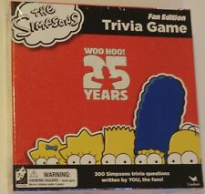 The Simpsons Trivia Game fan edition woo hoo 25 years New sealed