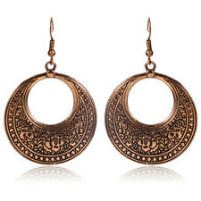 BOHO DANGLE DROP ROUND EARRINGS Bohemian Gypsy Ethnic Tribal Jewellery Gift Idea