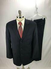Hugo Boss Men's Blue Super 100 Suit 42R 33 x 29