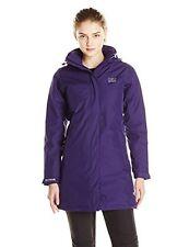 Helly Hansen Women's Long Insulated Waterproof Jacket Purple Small