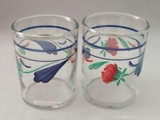 """Set Of 2 Lenox Poppies On Blue Votive Candle Holders 2 1/2"""""""
