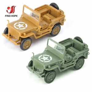 WWII Allied 4 x 4 Jeep Model Kit - 2 Variations - 1/48 Scale JP01