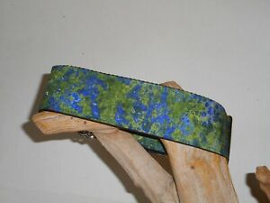 Blue Green Marble Custom Made Martingale Dog Collar - 2 Inch, 1 1/2 Inch, 1 Inch