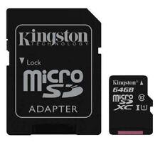 Scheda Micro SD 64GB Kingston Classe 10 memory Card 64 GB UHS-I 80 MB/s SDCS