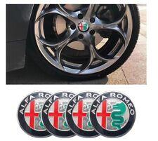 4 Coprimozzo Adesivi ALFA ROMEO MITO 147 159 156 166 50 mm Borchie Cerchi Lega