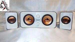 2.1 Mini Soundsystem SubWoofer Lautsprecher Speaker f. PC Notebook TV DVD  White