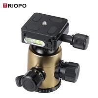 TRIOPO B-2 Tripod Head Ball Head 360°Panorama Head for DSLR Cameras Gold Z7J4