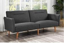 Futon Sofa Bed Sleeper Mid Century Modern Couch Lounge Small Space Living Room