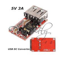 New USB DC-DC Buck Step Down Converter 6-24V 12V/24V to 5V 3A CAR Charger Module