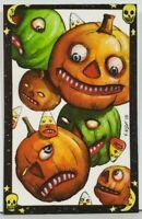 Matthew KIRSCHT Halloween CASCADE AP/15 Hand Sketch SHIVERBONES Postcard D12