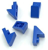 Lego 5 New Blue Slope 45 2 x 1 with 2/3 Cutout Sloped Pieces