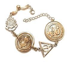Harry Potter Bracciale Giratempo Dono Morte Boccino Hogwarts 9 e 3/4 Nichel Free