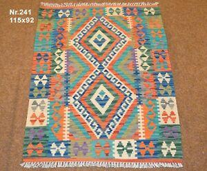 Handgewebter Orient Kelim Afghan Nr.241 - 115x92cm aus 100% Wolle