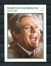 Starkarte Marcello Mastroianni - Schwarze Augen  1987    (ST5)