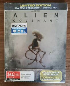 Alien Covenant Blu-Ray Steelbook Limited Edition *Brand New & Sealed*  OOP