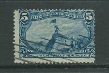 Scott used 288 5ct blue Trans-Mississippi