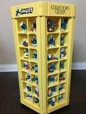 vintage 80s Smurfs store Display Case with 84 smurf figures Peyo