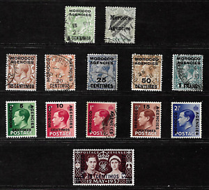 Morocco Agencies .. G.B. Issues overprinted .. . 6861