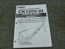 Heavy Equipment Manuals & Books for Kobelco Crane for sale | eBay