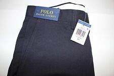NWT RALPH LAUREN Size 31 Men's Flat Front Navy 100% Polyester Casual Shorts