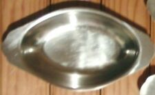 Two Japan Stainless Steel Oval Au Gratin Serving Dishes Pan Platter 6 Available