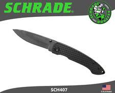 Schrade Folding Knife Drop Point Ceramic Blade ABS & TPR Handle SCH407