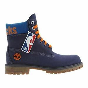 """Timberland New York Knicks 6"""" Premium Waterproof Boot Dark Blue Nubuck"""