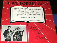 PAUL & DON If We Forget God PRIVATE ST. PAUL MN XIAN GOSPEL GUITAR LP RARE