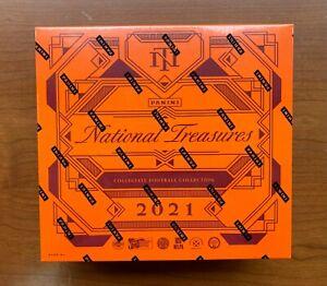 2021 Panini National Treasures Collegiate Football Hobby Box Sealed