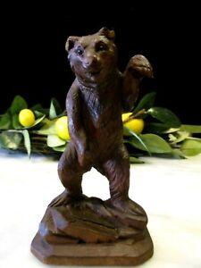 Antique Black Forest Carved Dancing Bear