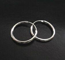 Men's Silver Gold Filled Hoop Circle Earrings Gift / UK