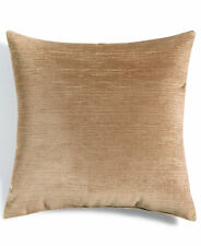 "Hallmart Collectibles Beige Velvet 18"" Square Decorative Pillow Bedding F1349"