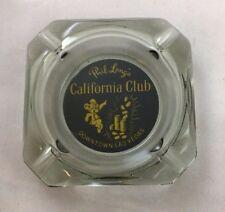 Vintage PHIL LONG California Club Casino LAS VEGAS Ashtray Advertisement B6