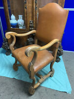 Antique Elbow Chair, English, Oak, Armchair, Victorian, Circa 1880
