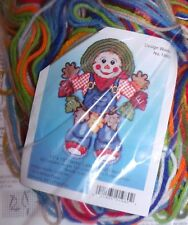 "Cute WELCOME SCARECROW Plastic Canvas Kit 14"" x 19""  Design Works HTF"