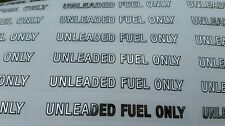 "UNLEADED FUEL ONLY  ---  Chorme Gas Fuel Door Decal Sticker 4""x.5""  NEW"