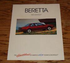Original 1989 Chevrolet Beretta Foldout Sales Brochure 89 Chevy