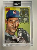 Topps Project 2020 Ted Williams Artist Jacob Rochester #262 PR 2,219 Red Sox HOF
