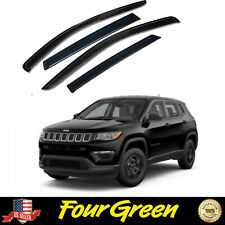 Side Window Visor Sun Deflector Rain Guard Vent Shade for 2017-2020 Jeep Compass (Fits: Jeep)