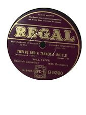 Will Fyffe 78 Rpm Record Regal The Belle Of The Ball / 12th & A Tanner A Bottle