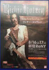 RICHIE KOTZEN SALTING EARTH TOUR ORIGINAL JAPANESE FLYER CHIRASHI RARE