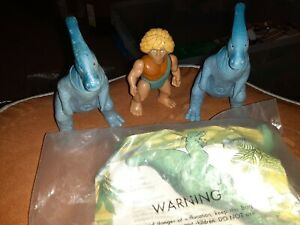Vintage Wendys Playskool Definitely Dinosaurs Lot Of 4 Ceratosaur